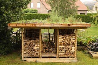 houtmijt met groendak